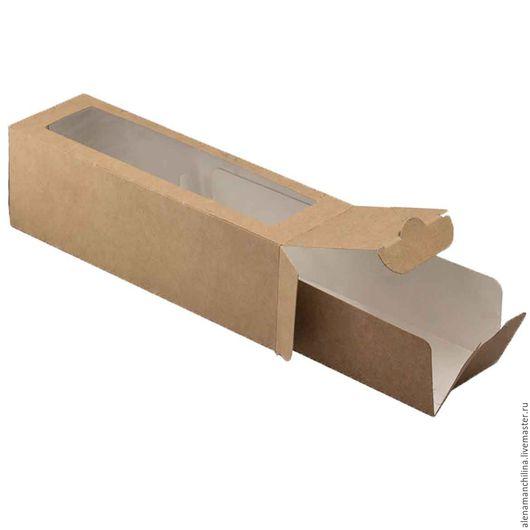 Упаковка ручной работы. Ярмарка Мастеров - ручная работа. Купить Коробочка 55 х 180 х 55 мм. с вкладышем и прозрачным окном. Handmade.
