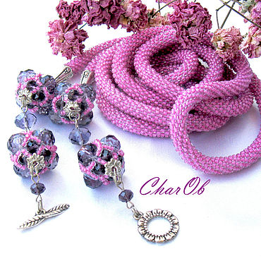Decorations handmade. Livemaster - original item Lingonberry jam. Lariat necklace decoration long.. Handmade.