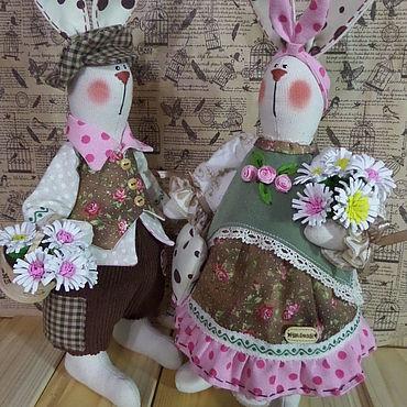 Куклы и игрушки ручной работы. Ярмарка Мастеров - ручная работа Тильды: зайцы тильда. Handmade.