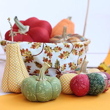 """Куклы и игрушки ручной работы. Ярмарка Мастеров - ручная работа Тильды: Текстильные тыквы """"Золотая осень"""". Handmade."""