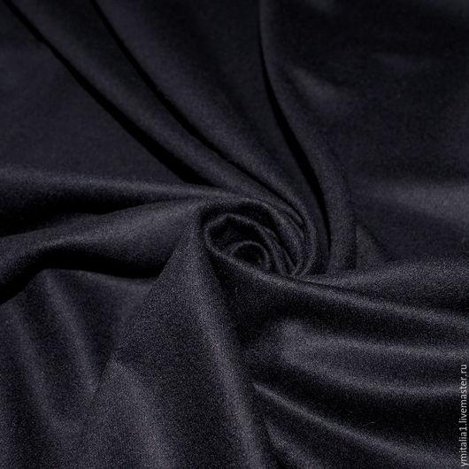 Шитье ручной работы. Ярмарка Мастеров - ручная работа. Купить Кашемир с шелком  плательно-костюмный  темно-синий DIOR. Handmade.