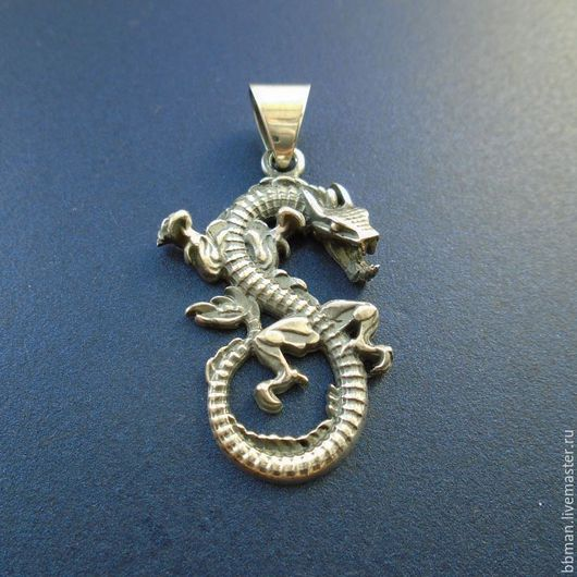Серебряный кулон `Дракон`