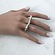 """Кольца ручной работы. Ярмарка Мастеров - ручная работа. Купить Кольцо """"Волны"""" на 2 пальца из серебра 925 пробы.. Handmade."""