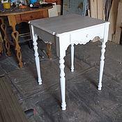 Для дома и интерьера ручной работы. Ярмарка Мастеров - ручная работа столик кухонный на точеных ножках в стиле шеби-шик. Handmade.