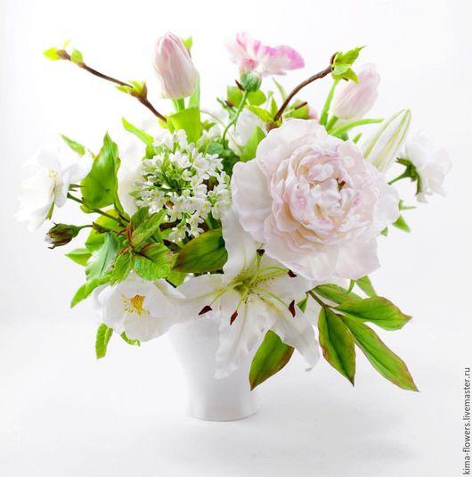Букеты ручной работы. Ярмарка Мастеров - ручная работа. Купить Нежный букет из полимерной глины. Handmade. Весенние цветы