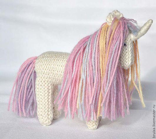 Игрушки животные, ручной работы. Ярмарка Мастеров - ручная работа. Купить Единорог Rainbow вязаная игрушка. Handmade. Розовый