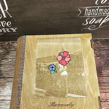Для дома и интерьера ручной работы. Ярмарка Мастеров - ручная работа Альбом с фото, выгравированными на фанере. Handmade.