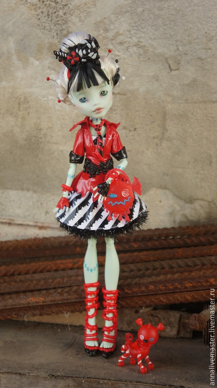 Коллекционные куклы ручной работы. Ярмарка Мастеров - ручная работа. Купить ооак Monster HIgh. Handmade. Ооак, ooak, френки