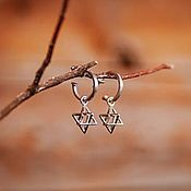 Украшения handmade. Livemaster - original item Merkabah pendant earrings, Star of David, 925 sterling silver. Handmade.