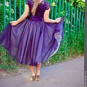 """Одежда ручной работы. Ярмарка Мастеров - ручная работа пышная юбка из фатина для взрослых 7 слоев """"Ночная фея"""". Handmade."""