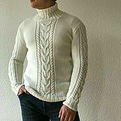 Одежда handmade. Livemaster - original item Men`s sweater from Italian Merino. Handmade.