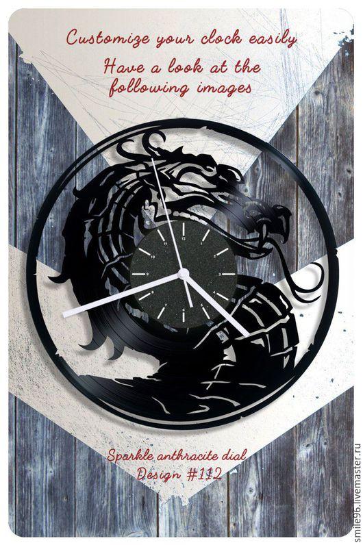 """Часы для дома ручной работы. Ярмарка Мастеров - ручная работа. Купить Часы из пластинки """"Mortal_Kombat"""". Handmade. Комбинированный, mortal kombat"""