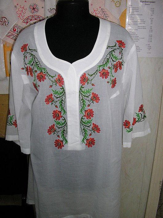 """Блузки ручной работы. Ярмарка Мастеров - ручная работа. Купить блузка летняя """"Маки"""". Handmade. Вышиванка, блузка нарядная, цветочный"""