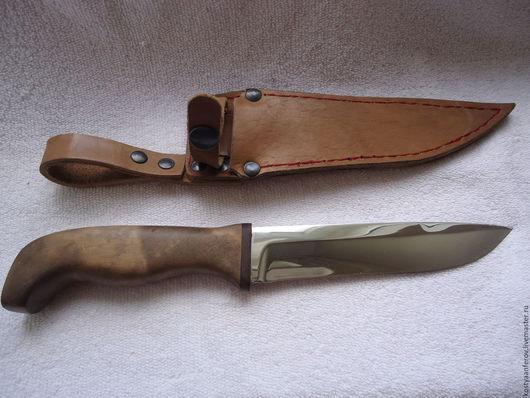 """Подарки для мужчин, ручной работы. Ярмарка Мастеров - ручная работа. Купить Нож """"Универсал"""". Handmade. Коричневый, сталь эи-107"""