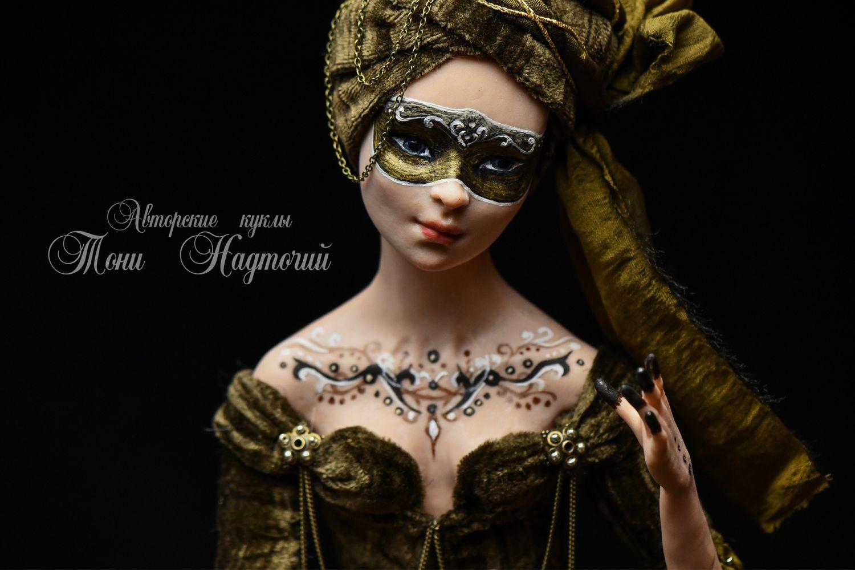 Фарфоровая кукла жена султана, Интерьерная кукла, Санкт-Петербург,  Фото №1