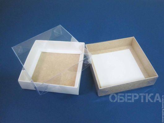 Упаковка ручной работы. Ярмарка Мастеров - ручная работа. Купить Коробка 12х12х3 см с прозрачной крышкой. Handmade. Коробка для мелочей