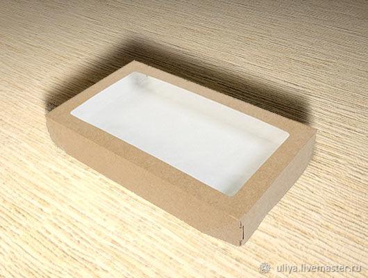 Коробка картонная с прозрачным окном, Коробки, Москва,  Фото №1