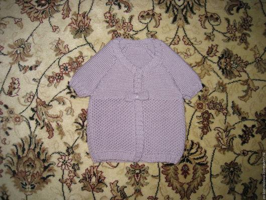 Пиджаки, жакеты ручной работы. Ярмарка Мастеров - ручная работа. Купить Сиреневая кофточка для девочки. Handmade. Сиреневый, кофточка для девочки