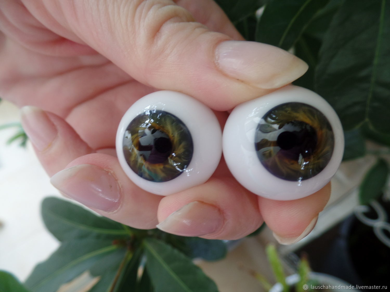 Глаза Лауша.24 мм. Зелено-карие, Глаза и ресницы, Омск,  Фото №1