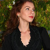 Одежда handmade. Livemaster - original item Black blouse
