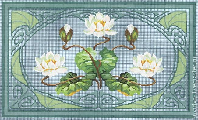 Схемы вышивок крестом ковриков