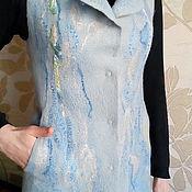 Одежда ручной работы. Ярмарка Мастеров - ручная работа Валяный жилет Март.. Handmade.