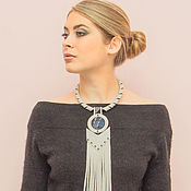 Украшения handmade. Livemaster - original item Necklace leather Marianne. Handmade.
