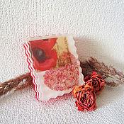 """Косметика ручной работы. Ярмарка Мастеров - ручная работа Мыло """"С любовью"""", подарки на 8 марта, подарки учителям, красный, шебби. Handmade."""