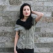 """Одежда handmade. Livemaster - original item Двуцветная безрукавка по мотивам """"Сюзанны"""". Handmade."""