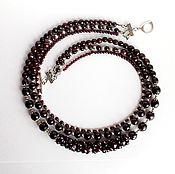 Украшения handmade. Livemaster - original item Necklace Bordeaux natural garnet. Handmade.