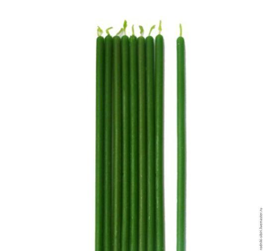 Эзотерические аксессуары ручной работы. Ярмарка Мастеров - ручная работа. Купить зеленые восковые свечи. Handmade. Зеленый