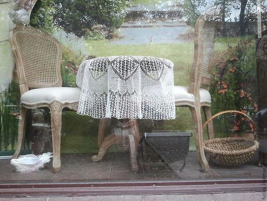 """Текстиль, ковры ручной работы. Ярмарка Мастеров - ручная работа. Купить Скатерть """"Паутинка"""".. Handmade. Скатерть, подарок девушке, белый"""