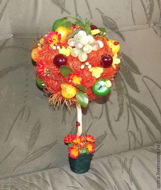 Цветы ручной работы. Ярмарка Мастеров - ручная работа. Купить Топиарий Лесная поляна. Handmade. Оранжевый, фрукты, интерьерная композиция