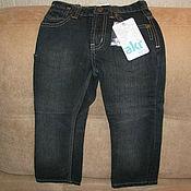 Винтаж handmade. Livemaster - original item Vintage clothing: Black jeans for boy new size 104. Handmade.
