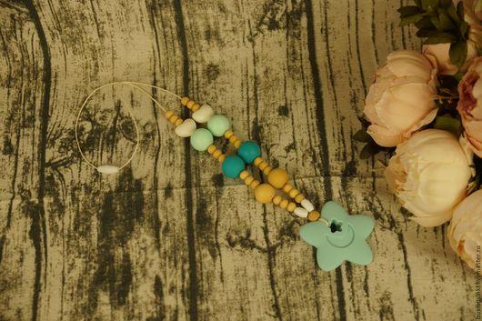 Слингобусы ручной работы. Ярмарка Мастеров - ручная работа. Купить Слингобусы - Голубая звезда. Handmade. Голубой, силиконовые молды