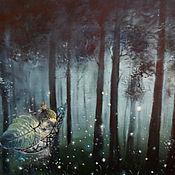"""Картины и панно ручной работы. Ярмарка Мастеров - ручная работа Картина """"Сон маленького Светлячка...""""авторская работа. Handmade."""