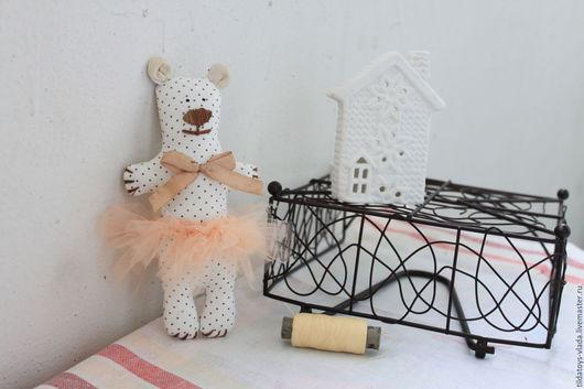 Куклы Тильды ручной работы. Ярмарка Мастеров - ручная работа. Купить Мишки - балеринки. Handmade. Бежевый, балерина, голубой, синтепух