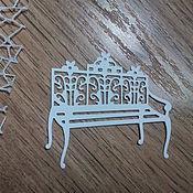 Материалы для творчества handmade. Livemaster - original item !Cutting for scrapbooking - VINTAGE BENCH, diz cardboard. Handmade.