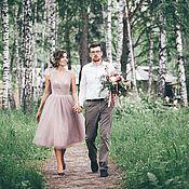 Свадебный салон ручной работы. Ярмарка Мастеров - ручная работа Свадебное платье цвета тауп. Handmade.