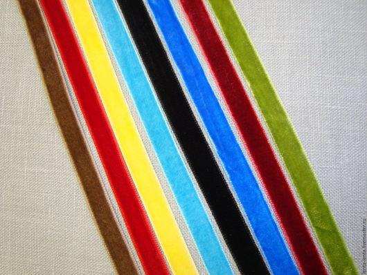 Шитье ручной работы. Ярмарка Мастеров - ручная работа. Купить Бархатные ленты узкие. Тесьма декоративная. Handmade. Разноцветный, ленты