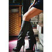 Обувь ручной работы handmade. Livemaster - original item Boots-of-pipe structural skin. Handmade.
