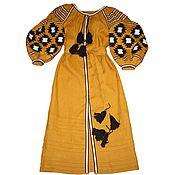 Одежда ручной работы. Ярмарка Мастеров - ручная работа Вышитое льняное платье. Льняное бохо платье. Вышиванка. Handmade.