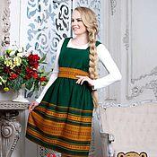 Одежда handmade. Livemaster - original item Sundress Lyubava green MIDI. Handmade.