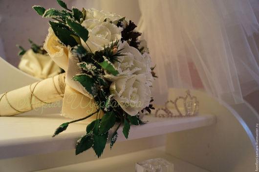 Свадебные цветы ручной работы. Ярмарка Мастеров - ручная работа. Купить Зимний Букет из фоамирана. Handmade. Свадьба, я невеста, фомфлористика