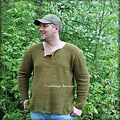 "Одежда handmade. Livemaster - original item Мужская рубашка ""Темная олива"".. Handmade."