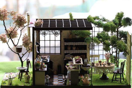 """Кукольный дом ручной работы. Ярмарка Мастеров - ручная работа. Купить Румбокс """"Choco Latte"""". Handmade. Румбокс, интерьерная игрушка"""
