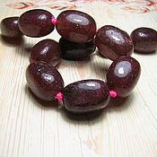 Материалы для творчества handmade. Livemaster - original item Aventurine strawberry large beads 18h12 mm. Handmade.