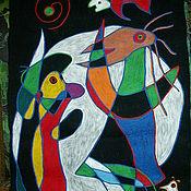 """Картины и панно ручной работы. Ярмарка Мастеров - ручная работа Триптих """"Посвящение Миро"""". Handmade."""