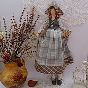 Куклы и игрушки ручной работы. Ярмарка Мастеров - ручная работа Тильда-хозяюшка Маковинка с гусиком. Handmade.