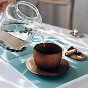 Посуда handmade. Livemaster - original item A couple of tea from the Siberian Cedar (Cup saucer) NC32. Handmade.